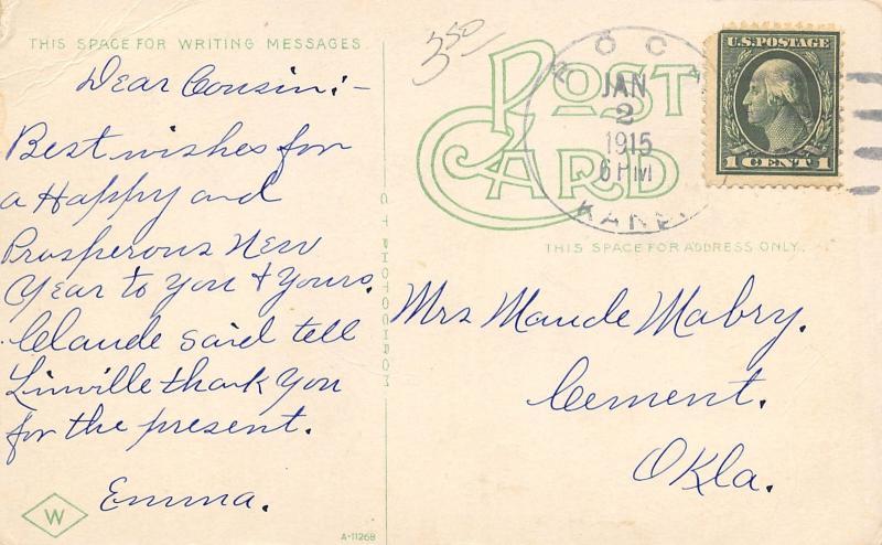 Winfield Kansas~Lutheran Orphans Home~Orphanage~1915 Postcard