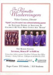 Palmetto Master Singers, Koger Center, Columbia, South Carolina, 2002