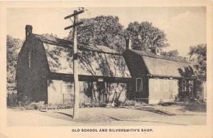 Old School & Silversmith's Shop~Rural Association (Norwich Town CT) Postcard