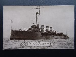 Military Vessel H.M.S. BLONDE Destroyer Class WW1 Old Postcard