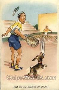 Serie No. 805 Tennis, Old Vintage Antique, Post Card Postcard  Serie No. 805