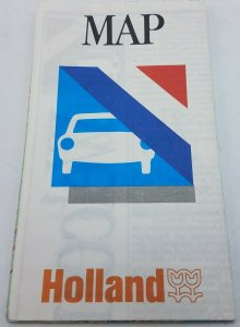 Vtg 1987 Holland Board Of Tourism Travel Road Map EUC