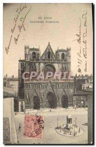 Old Postcard Lyon Saint Jean Cathedral