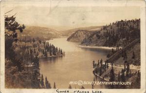 Idaho~Coeur d'Alene Lake-Beauty Bay from the South~1931 FS Rinker RPPC-Postcard