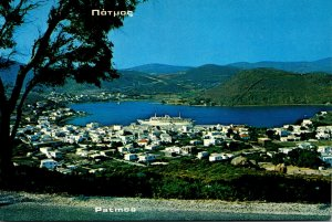 Greece Patmos Island General View Of Scala