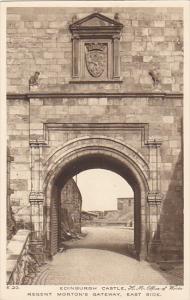 Scotland Edinburgh Castle Regent Morton's Gateway East Side