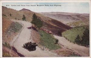 Colorado Denver Golden And Plains From Denver Mountain Parks Auto Highway