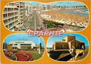 Modern Postcard Les Sables d'Olonne (Vendee) The Embankment Casino Fort Saint...