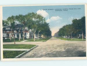 Unused W-Border STREET SCENE Emporia Kansas KS W1562
