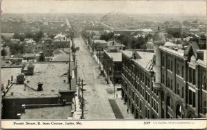 Joplin M 4th St East @ Connor~Bldg w/5th & 6th Story Turret~Neighborhoods 1910