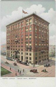VTG Postcard, Hotel Lenox, Back Bay, Boston, Mass.