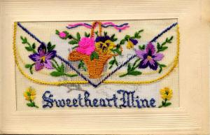 Embroidered Silk with Flap (Message Pocket) - Sweetheart Mine