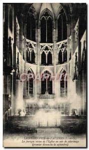Postcard Old Saint Sulpice de Favieres feerique The vision of & # 39eglise th...