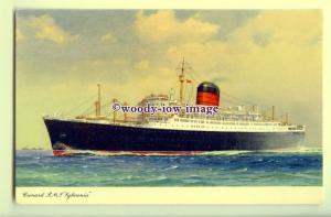 LS1102 - Cunard Liner - Sylvania - artist C E Turner - postcard