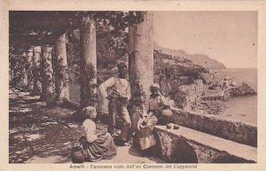 Amalfi, Panorama visto dall'ex Convento del Cappuccini, Salerno, Campania, It...