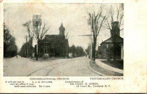 New York Cortland Congregational Church and Universalist Church 1907