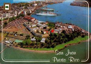 Puerto Rico San Juan Aerial View Of Islet San Juan