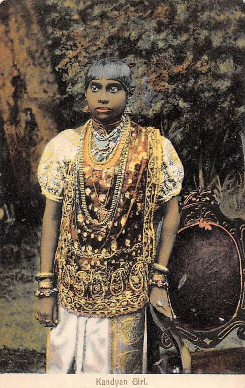 Sri Lanka Ceylon, Kandyan Girl, Traditional Clothing