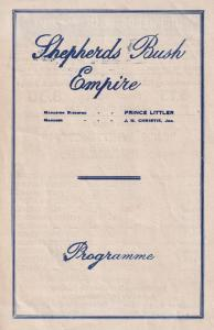 Dick Whittington Shepherds Bush Empire Old Pantomime Theatre Programme