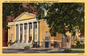 Florida St Petersburg First Baptist Church Curteich