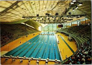 Olympic Swimming Stadium, Munich Germany c1972 Postcard Q32