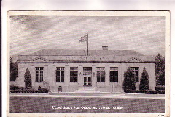 United States Post Office, Mt Vernon, Indiana