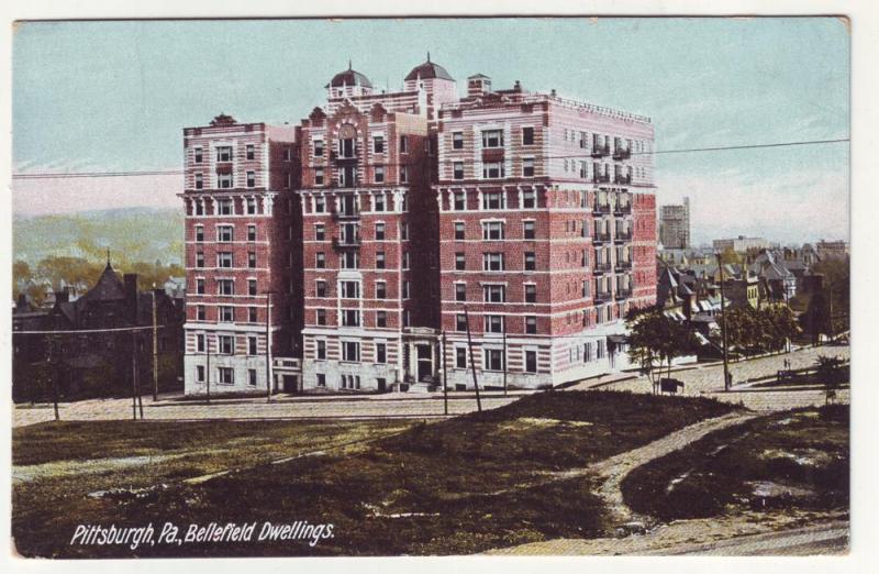 P200 JLs 1907-15 postcard bellefield dwellings pittsburg pa