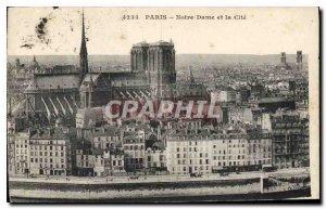 Postcard Old Paris Notre Dame and Cite