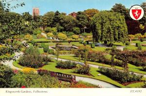 Vintage Postcard Kingsnorth Gardens, Folkestone, Kent by Elgate Products L95
