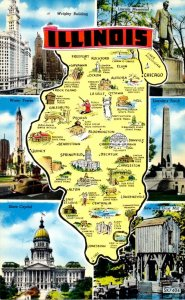 Map Of Illinois With Multi Views