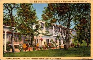 California Santa Monica Will Rogers' Ranch House