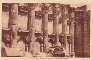 Syria Baalbek Temple de Bacchus Decoration interieure