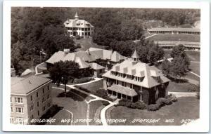 1940s Wisconsin RPPC Real Photo Postcard Main Buildings, Wis. State Sanatorium