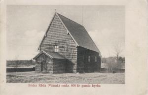 Sweden Sodra Rada 600 Ar Gamla Kyrka Postcard E4