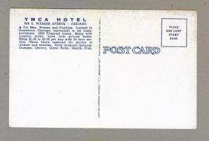 YMCA Hotel Chicago unused linen Curteich Postcard