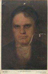 german composer Postcard Ludwig van Beethoven portrait by H Torggler