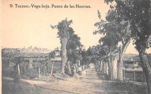 Spain Old Vintage Antique Post Card Toledo Vega baja Unused