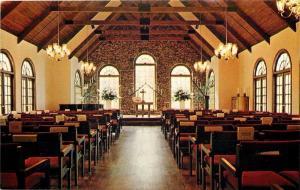 Marble Hill Georgia~Big Canoe Resort~Chapel Interior~1970s Postcard