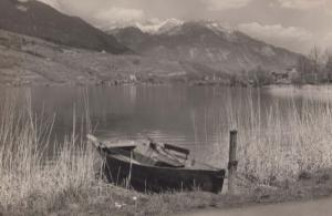 Sarnesee Pilatus  Boat Switzerland Stunning Real Photo Postcard