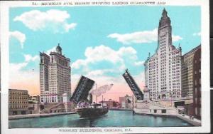 Wrigley Buildings, Michigan Ave Bridge. Ship