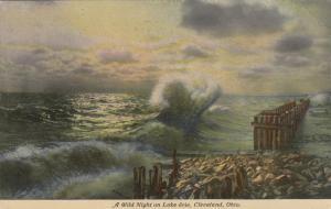CLEVELAND, Ohio, PU-1911; A Wild Night on Lake Eire