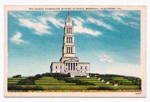 1915-1930 Alexandria VA The George Washington Masonic National Memorial Postcard