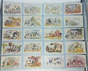 1907 Rex Parade Mardi Gras *RARE* Complete Set 20 Postcards Floats New Oreleans