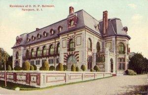 RESIDENCE OF O.H.P. BELMONT NEWPORT, RI