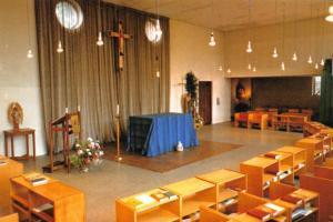 LIMITED EDITION Postcard HAM COMMON Richmond St Michaels Convent Interior SURREY