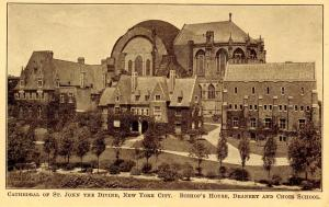NY - New York City. Cathedral of St John the Divine. Bishop's House, Deanery,...