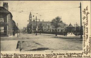 Middlesborough UK Albert Road & Victoria Square c1910 Postcard