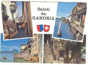 Switzerland, Saluti da GANDRIA, 1960s unused Postcard