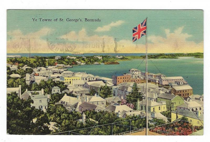 1939 Bermuda To USA Picture Postcard - St. Georges (PP102)