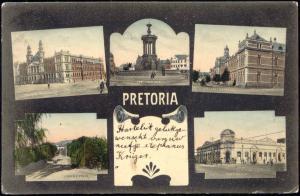 south africa, PRETORIA, Palace of Justice, Post Office, Artillery Barracks 1909